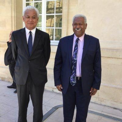 Roch WAMYTAN avec Robert LAUFOAULU, sénateur de W-et-F, au Sénat le 4 juillet 2019